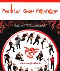 Website Poether Show Fanfaren