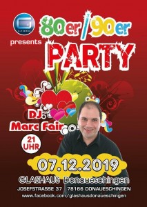 80er/90er Party fest.baden. fm. DJ Marc Fair